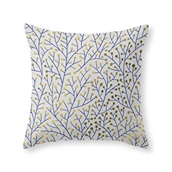 Amazoncom Shower Curtain Doormat Berry Branches Navy Gold