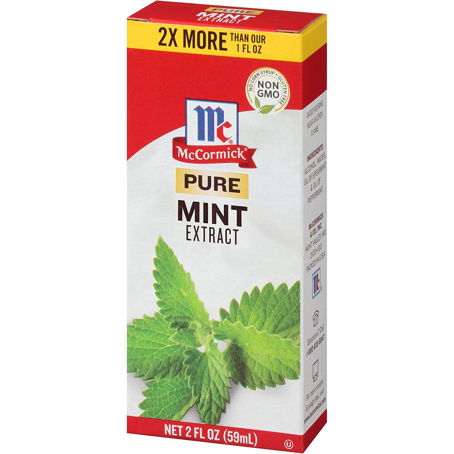 McCormick Pure Extract, 2 fl oz (Mint, Pack of 6)