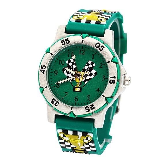Los estudiantes reloj de cuarzo 3d la Liga de Campeones de goma muñeca banda digital relojes