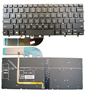 Bestcompu New Genuine US Keyboard With Backlit Black compatible with DELL XPS 13 9343 9350 15