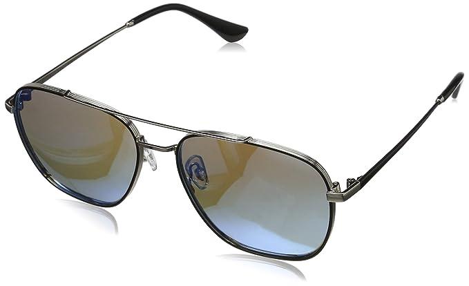 9ccf2ce0cf Elegear Gafas de sol Hombre 2018 Gafas Hombre Polarizadas Cuadrado Marco de  acero inoxidable, Protección