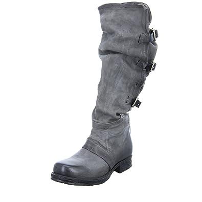 0ad0b4da14e48b A.S.98 Damen Stiefel 259321 Langschaftstiefel Leder Grau