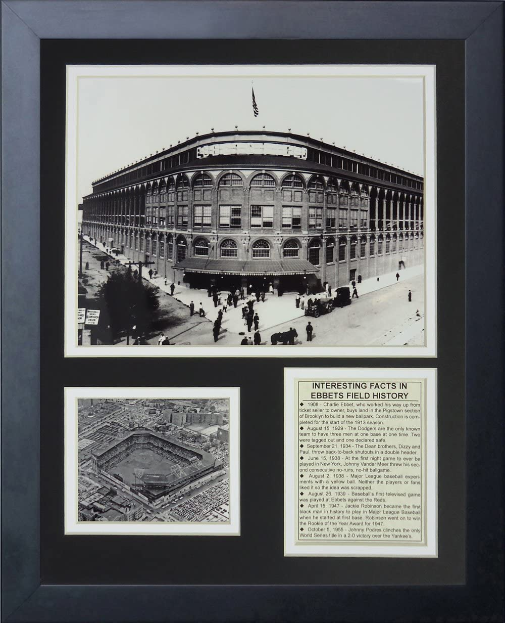 Legends Never Die Ebbets Field Outside Framed Photo Collage 11 x 14-Inch