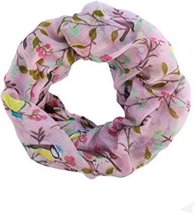 Premium Floral Infinity Loop Scarf Different Colors Available