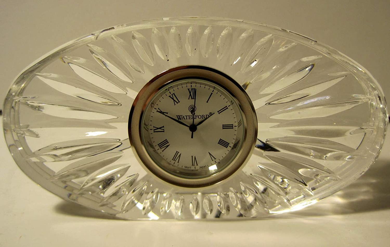 Waterford Crystal Desk Clock, 5 Inch Oval, Quartz Movement