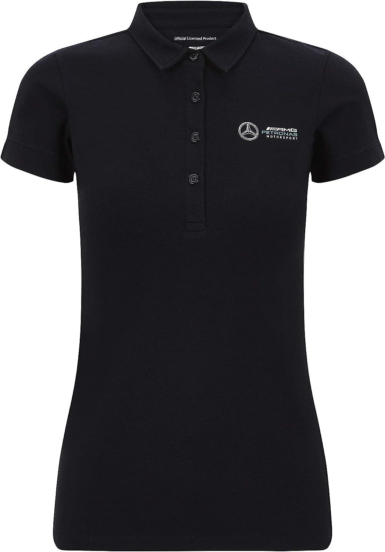 Mercedes Benz AMG Petronas F1 Womens Classic Polo Black