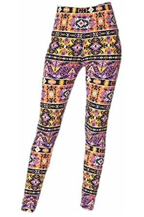 New Mix Patterned Plus Size Brushed Leggings N40 At Amazon Impressive Plus Size Patterned Leggings