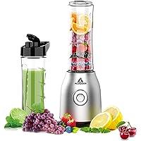 Acoqoos Smoothie Mixer, mini-blender voor smoothie, shakes, ijs en diepvriesvruchten, met 2 Tritan BPA-vrije 600 ml…