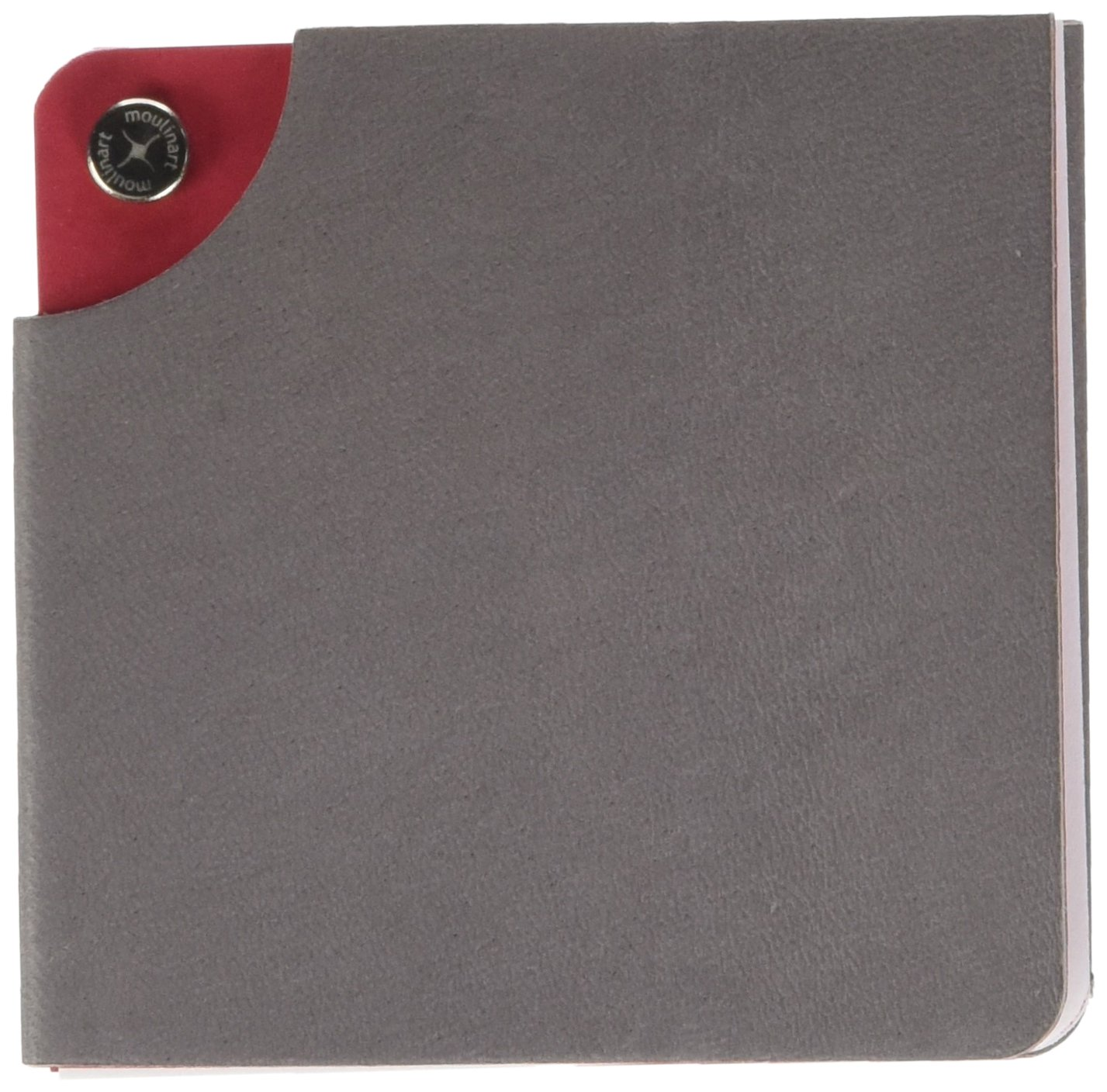 Estelle Moulinart Notes Leather Notepad 128 Pages 8.5 x 8.5 cm Grey