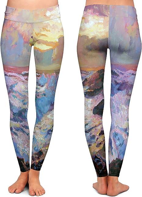 Athletic Yoga Leggings from DiaNoche Designs by David Lloyd Glover Mountain Stillness