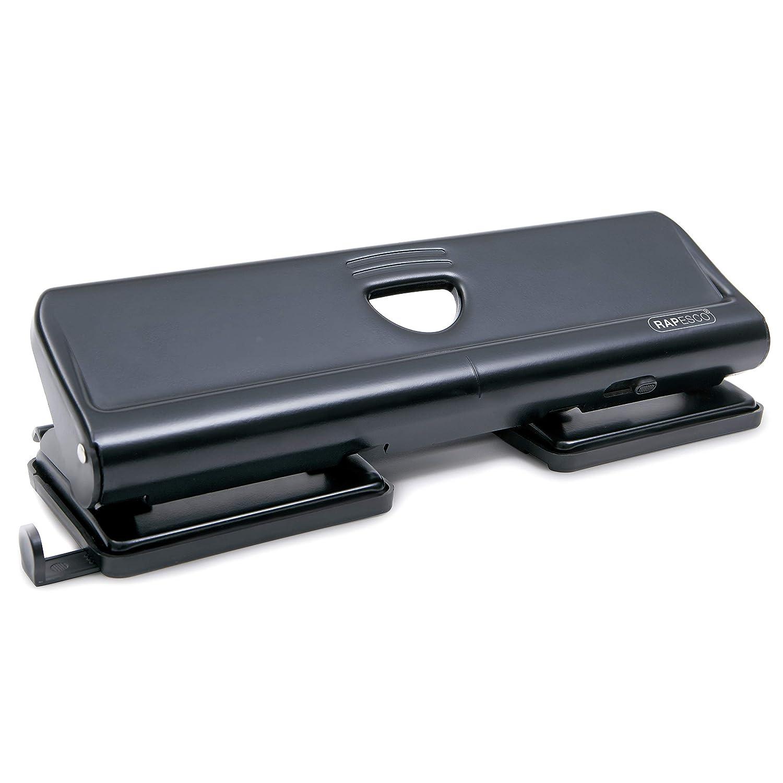 Rapesco 1054 - Perforador de agujeros de metal 720 Punzón 4x (hasta 22 hojas) Negro