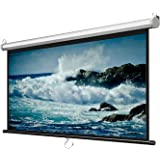ALDS 60 inch Projector Screen Pull Down Projection Screen Indoor Outdoor Movie Screens Wall-Mounted Public Display Screen 4:3