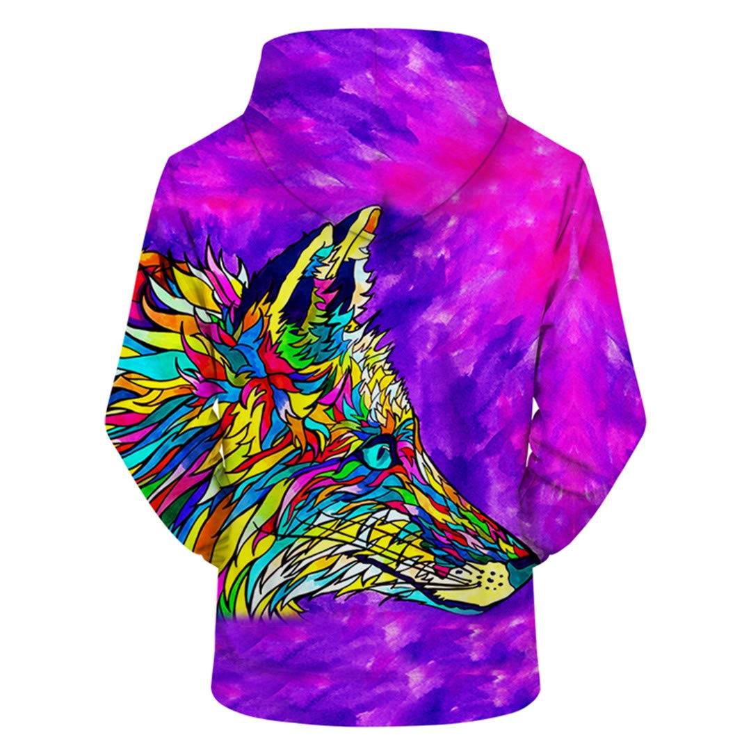 HURNCZQOEF 3D Animalprint Hoodies Men Women Casual Sweatshirt Tracksuit Pullover Jacket Hoodedcoat