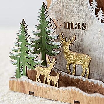 Weihnachtsdeko Fenster Holz.Ibaste Weihnachtsanhänger Aus Holz Diy Christbaumschmuck Mit