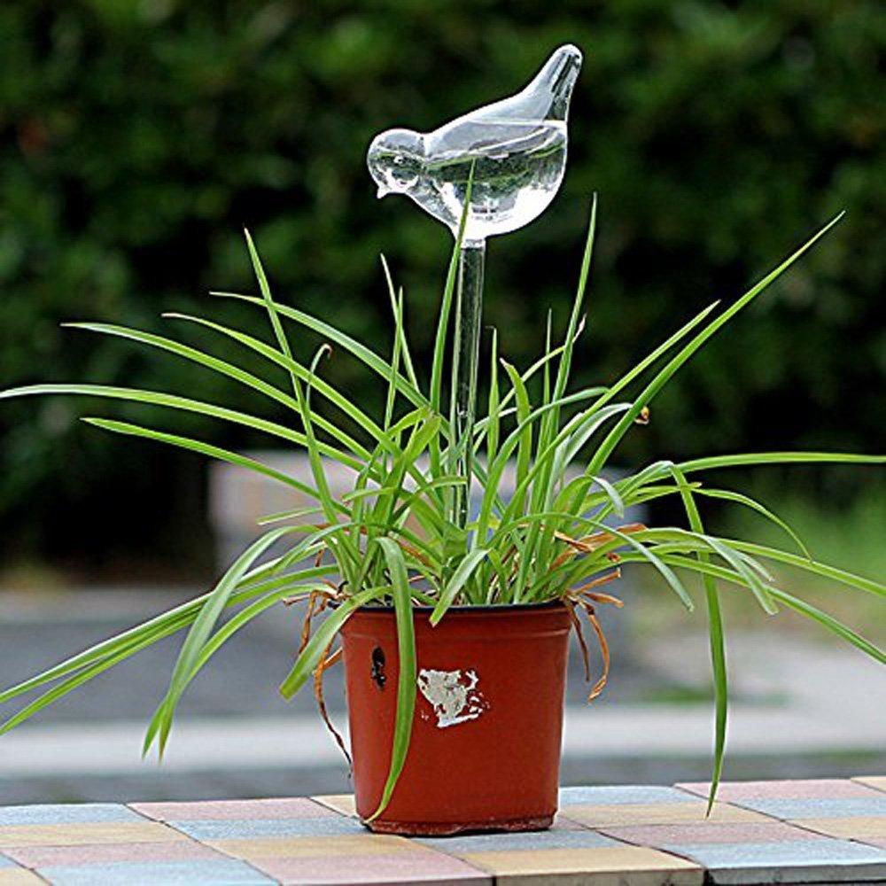 Dealglad® Bird Shape Clear Glass Self Watering Garden Sprinklers Automatic Waterer For Plant Flower DealgladUK TRTAZ11A