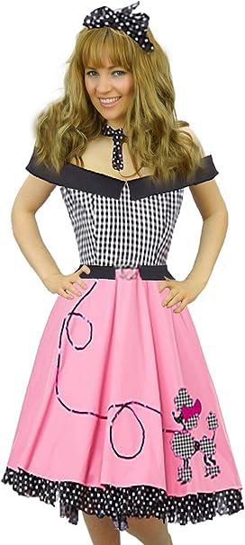 Brand New 1950s Retro Poodle Skirt Rock Around The Clock Plus Size Costume