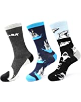 Zmart Men's Colorful Animal Funny Shark Novelty Crew Socks Size 8-13