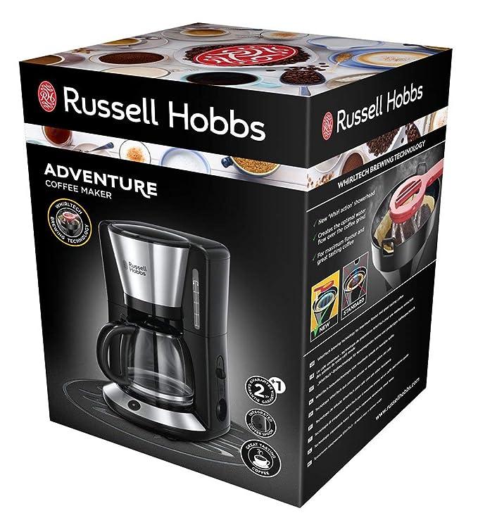Russell Hobbs 24010-56/RH Adventure - Cafetera de acero inoxidable cepillado, 10 tazas grandes o 15 pequeñas: Amazon.es: Hogar