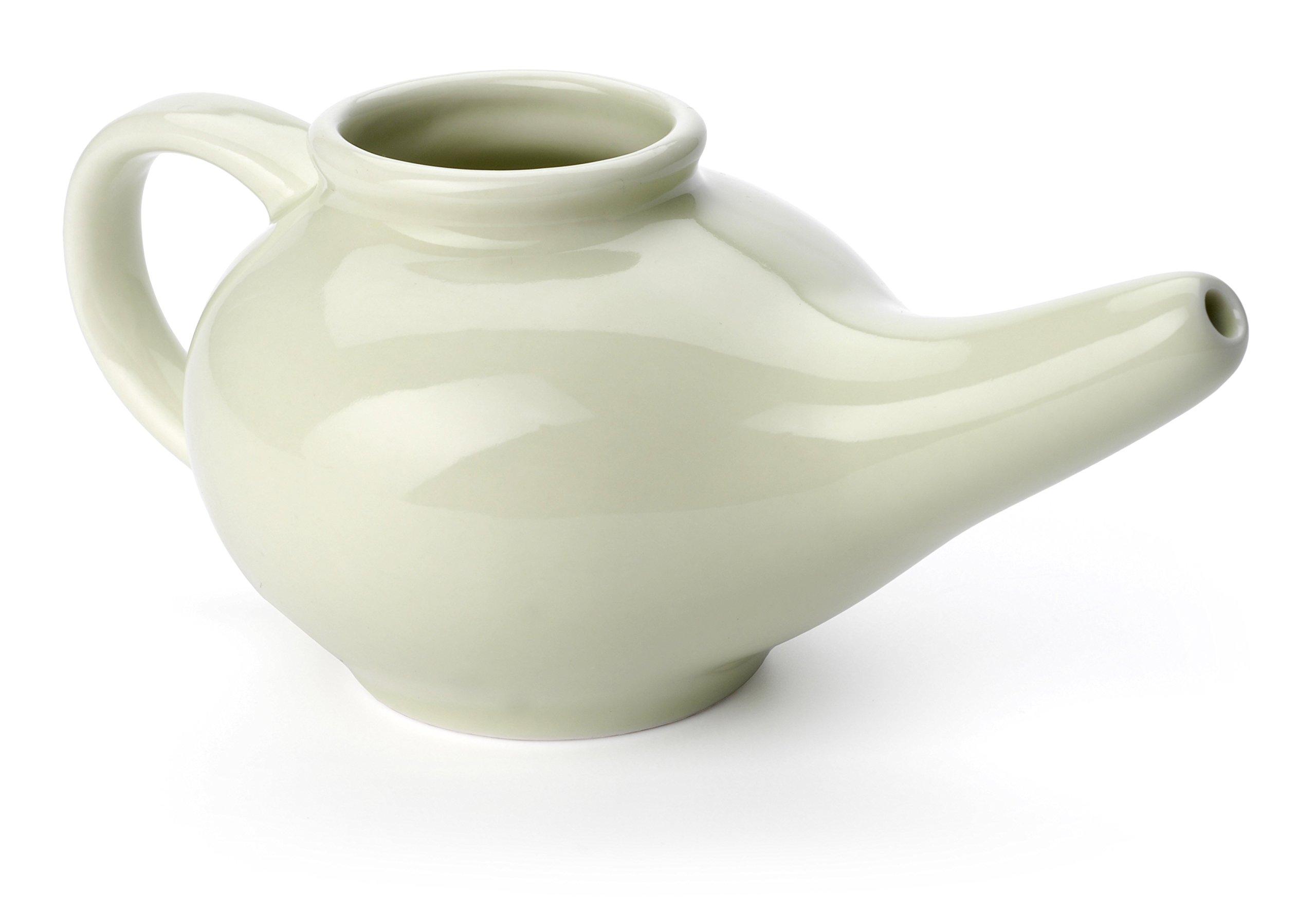 Aromatic Salt Premium Ceramic Neti Pot, Green by Aromatic Salt