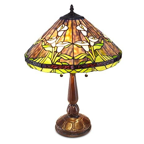 Tiffany Style Calla Lilly Table Lamp Stain Glass Lamps Amazon Com