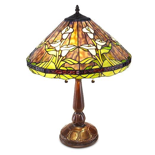Amazon.com: Lámpara de mesa de estilo Tiffany Calla Lilly ...