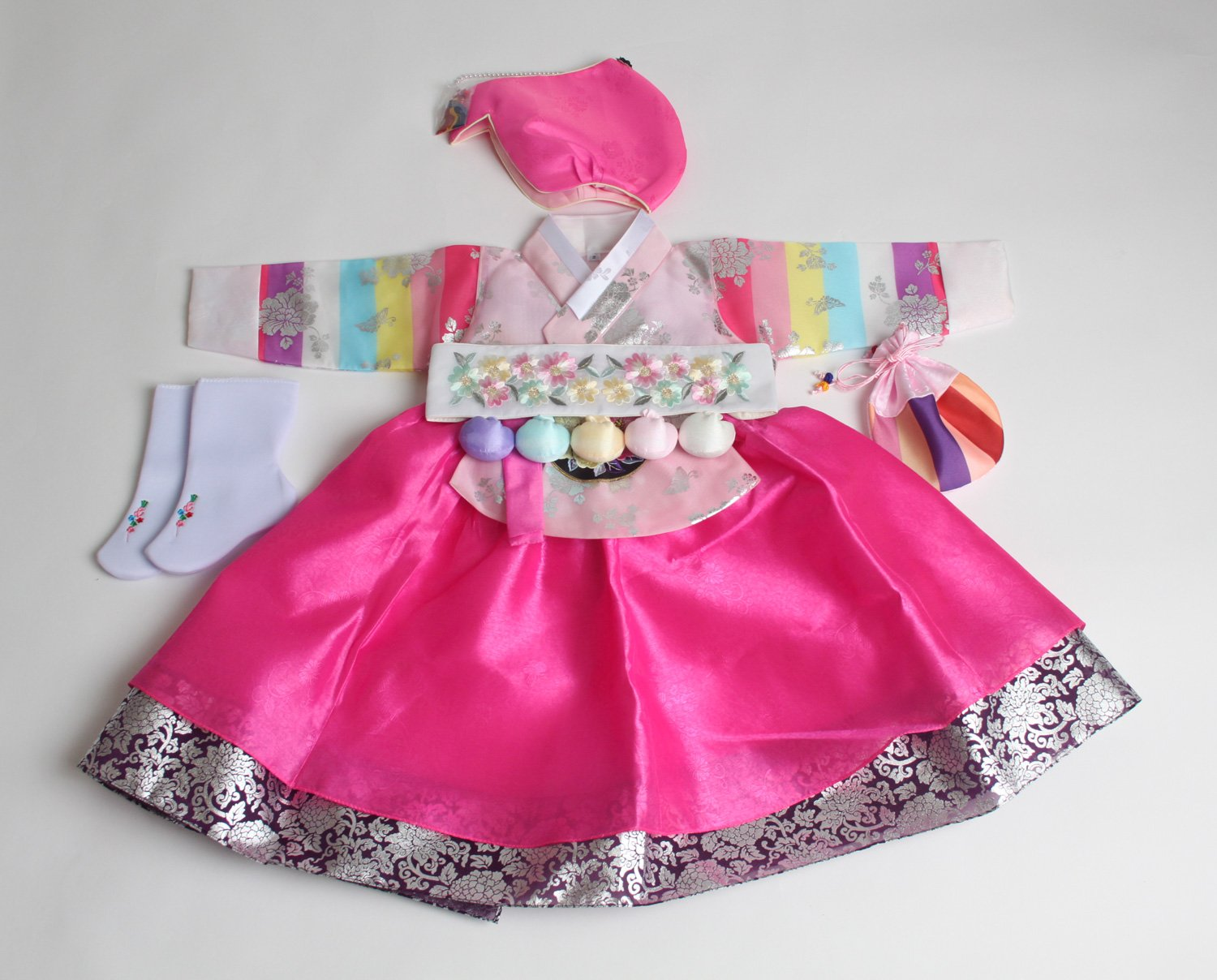 Korean hanbok girls DOLBOK 1st birthday traditional costumes hb062 by hanbok store (Image #1)