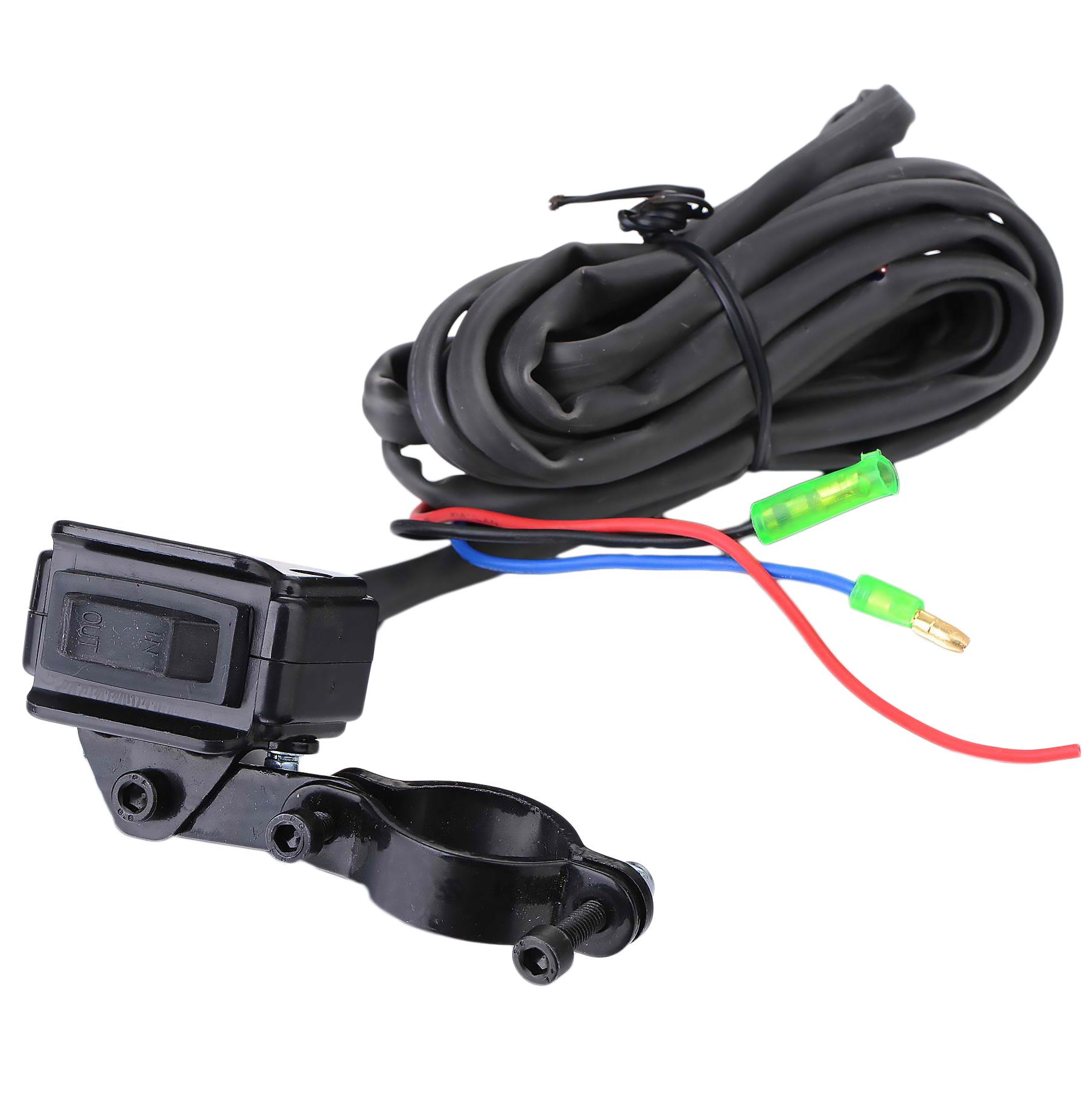 BIZ Tow Recovery Winch 4500lbs Capacity Electric Winch Synthetic Rope Winch for ATV/UTV/Small SUV or Buggy,4500D-1S by BIZ (Image #4)