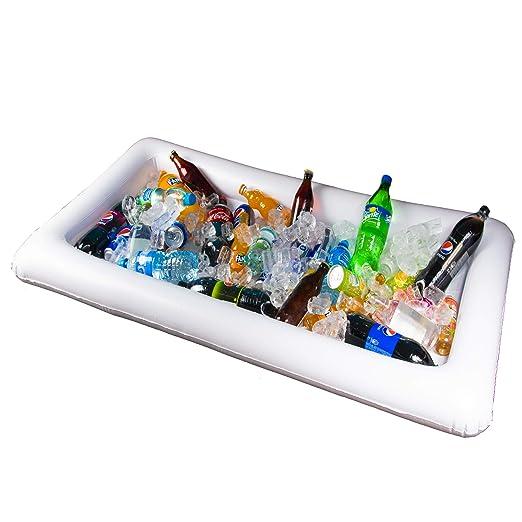 Mesa enfriadora inflable para fiestas - Bandeja flotante para ...