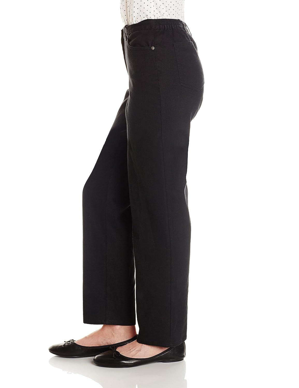 Ruby Rd Womens Petite Classic Flat Front Denim Jean