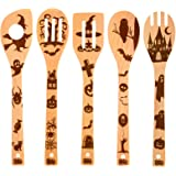 Nightmare Wooden Spoons for Cooking, Halloween Cooking Utensils Day of the Dead Decor Nightmare Before Christmas Gifts…