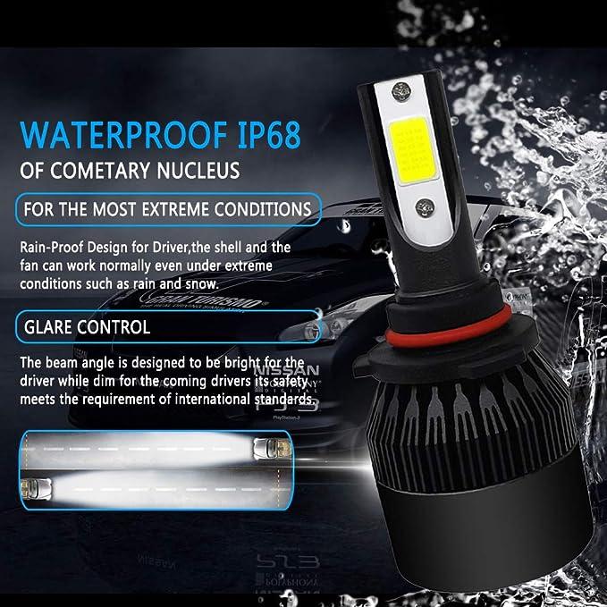 Amazon.com: Ruimin 1PC COB 72W 8000LM Car Headlight Kit Turbo Light Bulbs 6000K White Lamp: Kitchen & Dining