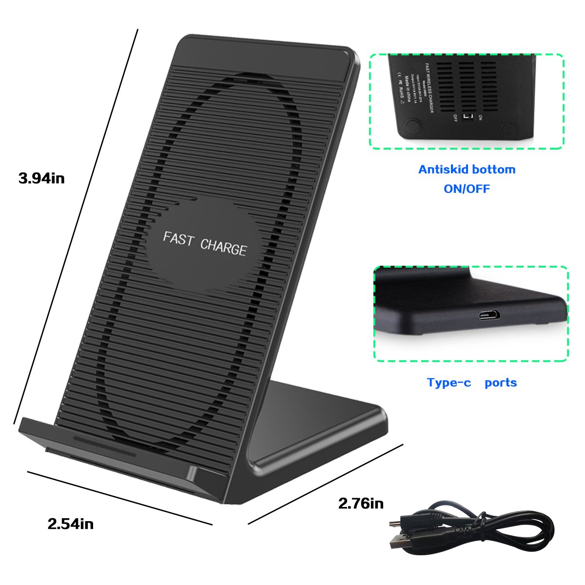 S8 Plus S7 Edge ltd szzccc-99 Fast Wireless Charger,QI Fast/Wireless/Charging Pad Stand Built-in Cooling Fan for iPhone X,iPhone 8,iPhone 8 Plus and Samsung Galaxy Note 8 S8 S6 Edge Plus S7 Note5 Shenzhen faith industrial Co