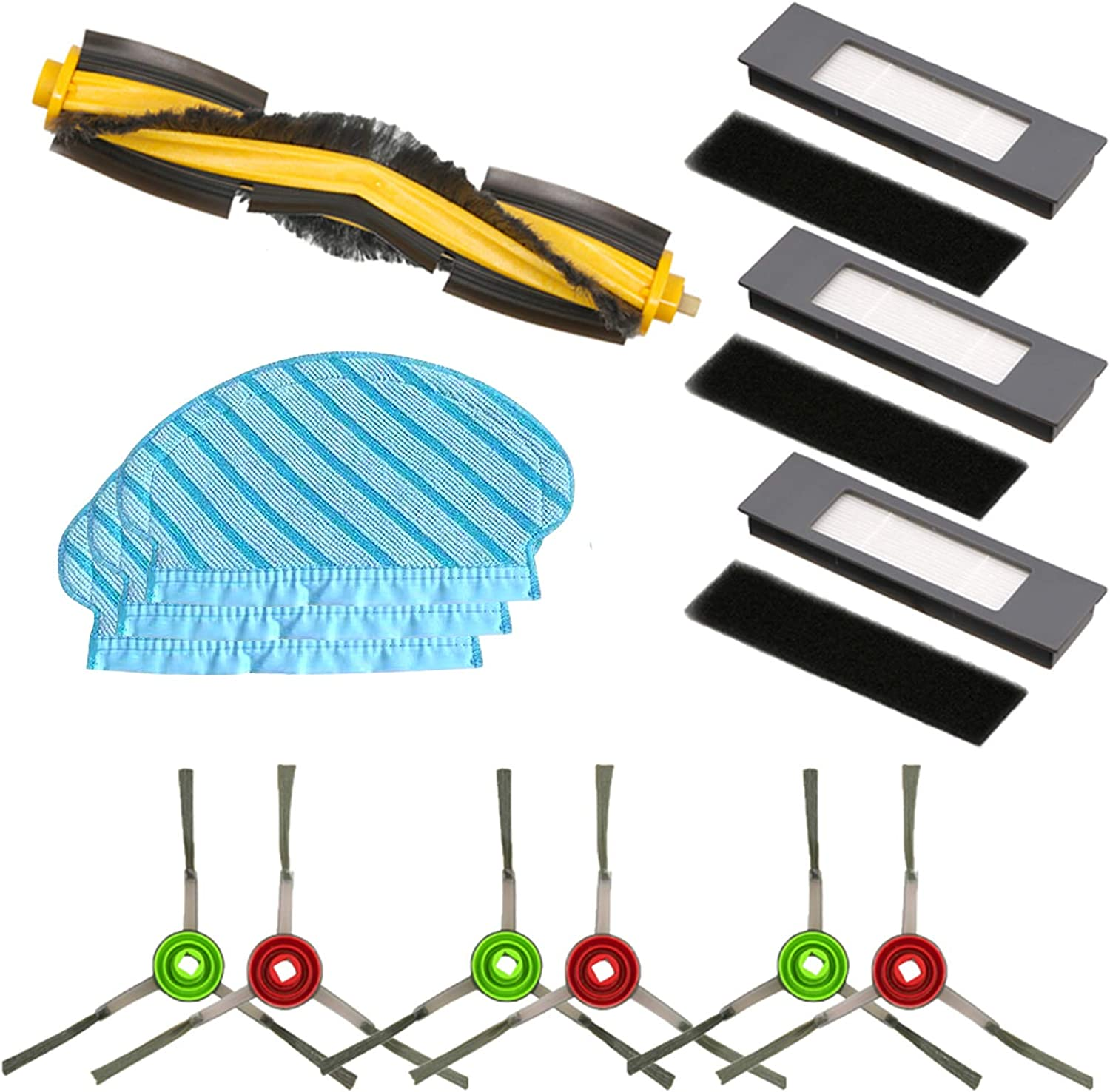 Roller Brush Cover Set For Ecovacs Deebot ozmo 900 Vacuum Cleaner Parts