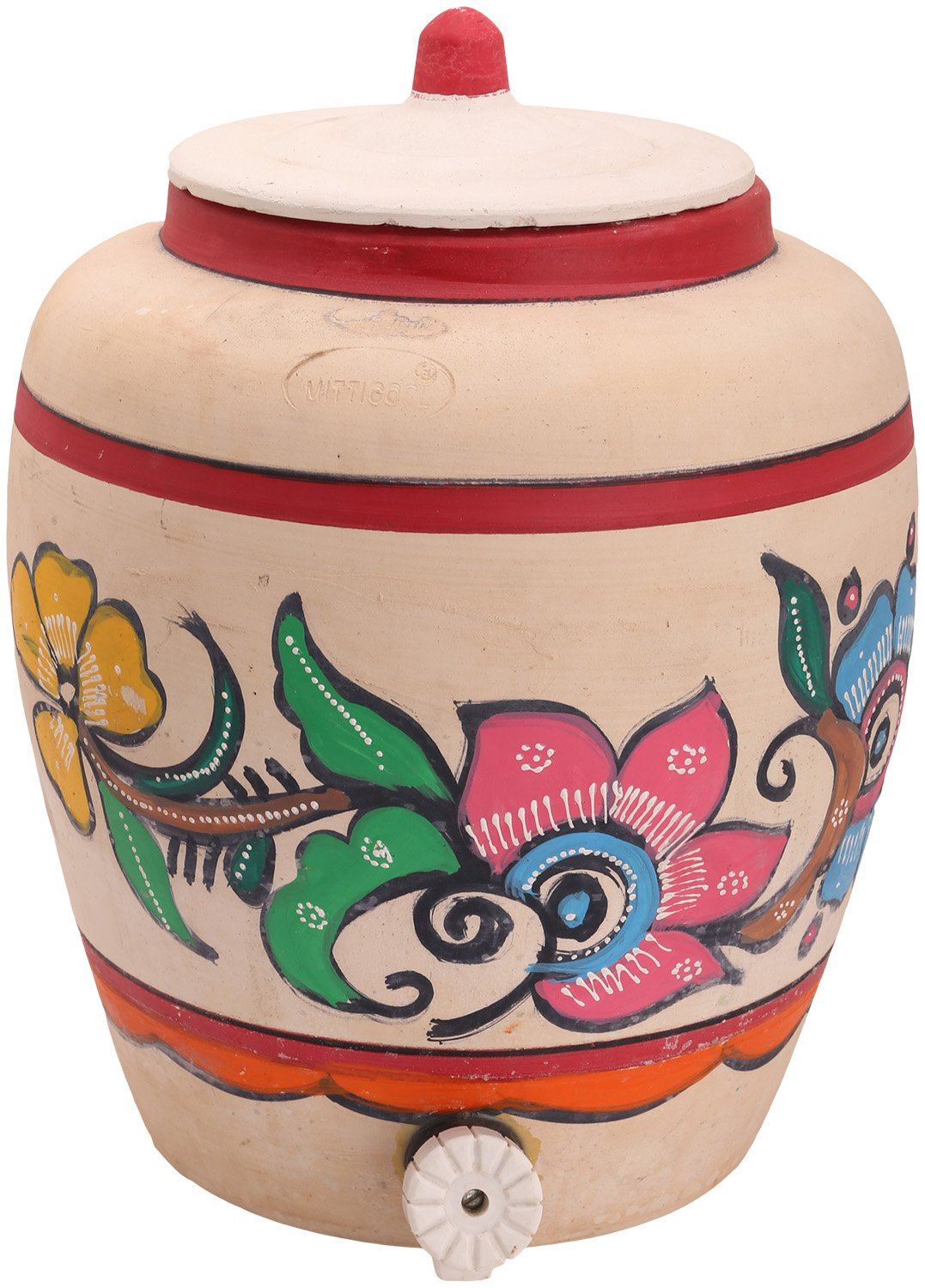 Buy Organic And More Clay Pot With Tap 10 L 1 Piece White Online At Low Prices In India Amazon In