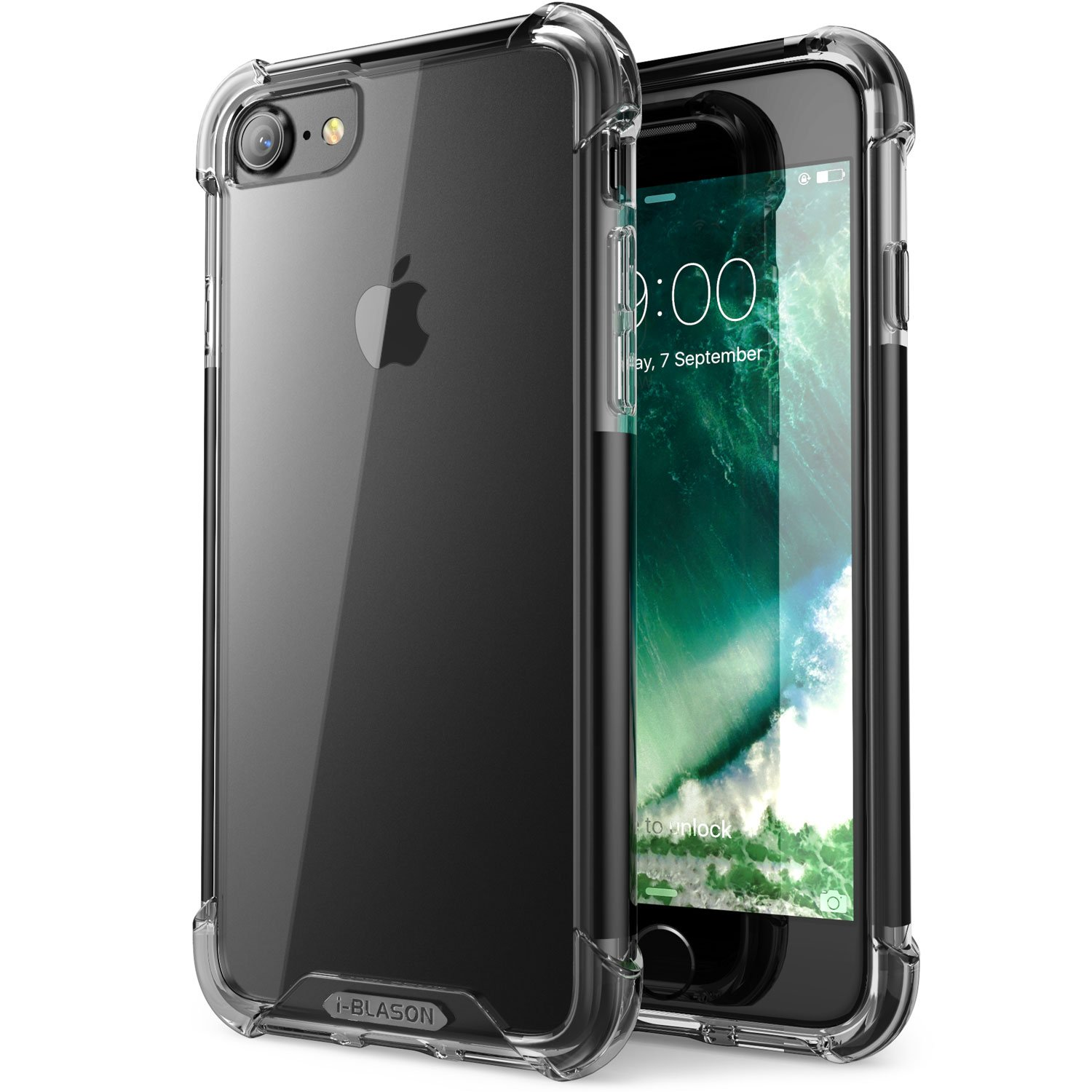reputable site 80e94 fb00f i-Blason Shockproof Case Designed for iPhone 7/iPhone 8, [Impact  Resistant][Shock Absorbing] (Black)