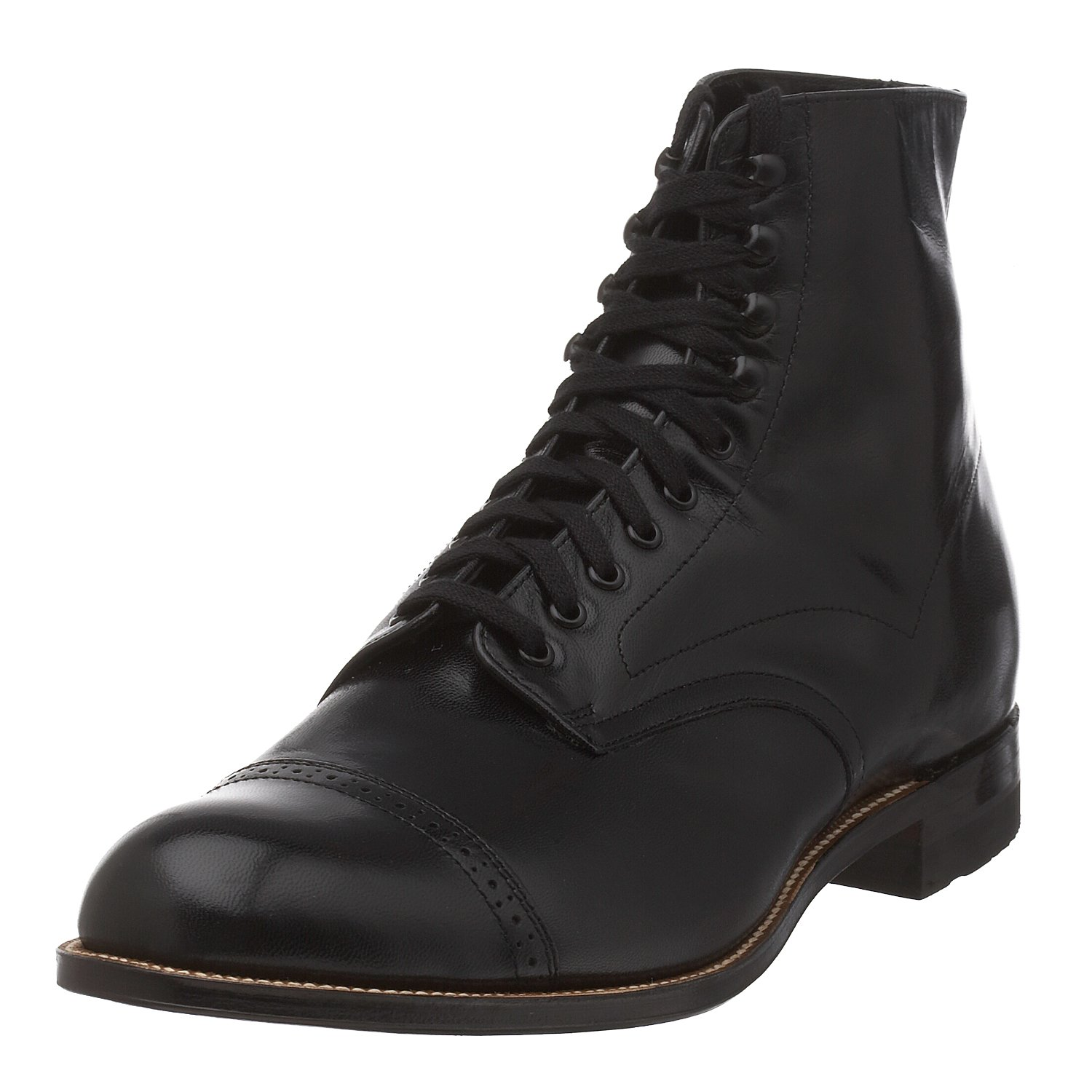 Steampunk Boots and Shoes for Men UK - Stacy Adams Mens Madison Cap Toe Boot £96.11 AT vintagedancer.com