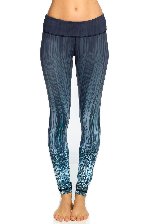 Vimmia With Reversible Viper Legging-Printed-L Womens Active Workout Reversible Yoga Leggings Printed