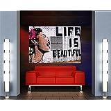 【アート】バンクシー ライフ・イズ・ビューティフル アートプリントポスター  BANKSY LIFE IS BEAUTIFUL MR489