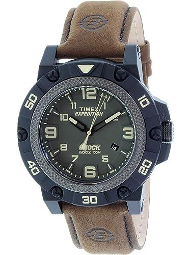 Timex Expedition Shock TW4B01200 - Reloj de Cuarzo para Hombres, Color marrón: Timex: Amazon.es: Relojes