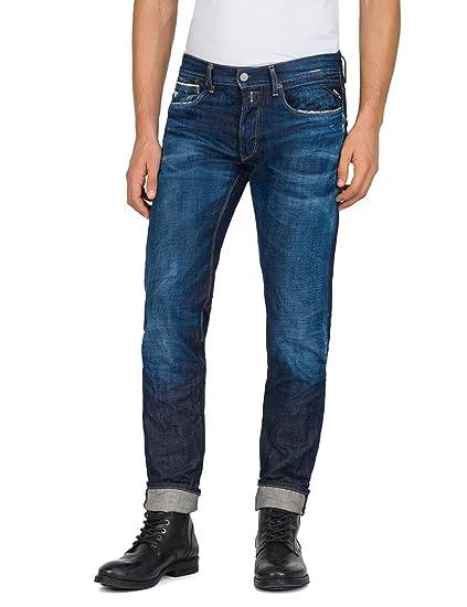 686949c7 Replay Men's Ronas Slim Jeans, Blue (Mid Denim 7), W28/L32