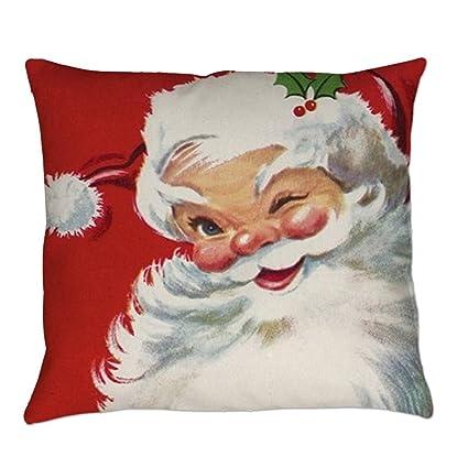 e61e03e89e Goodtrade8 Gotd Merry Christmas Pillow Case Gifts Santa Claus Cushion Cover  Merry Chritmas Home Decor Design