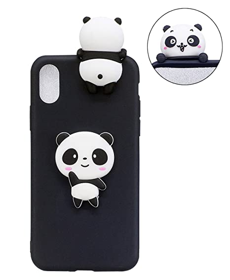 0c489569b7930 iPhone XR Case, TopFunny iPhone XR Case Silicone 3D Cute Cartoon Animals  Soft TPU Slim Fit Rubber Bumper Protective Gel Cover Shockproof Case ...