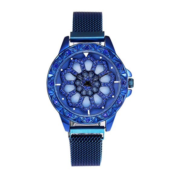 Sunnywill Relojes Mujer Elegante Relojes para Mujer Acero ...