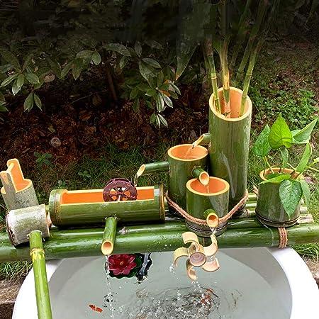 QXTT Fuente De Bambu Exterior Estatuas Decorativas Fuente Jardin para La Decoración del Jardín Cascada Característica Japonesa Al Aire Libre,30cm: Amazon.es: Hogar