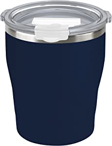 Tahoe Trails 10 oz Stainless Steel Tumbler Vacuum Insulated Double Wall Travel Cup With Lid (dark denim, 10oz)