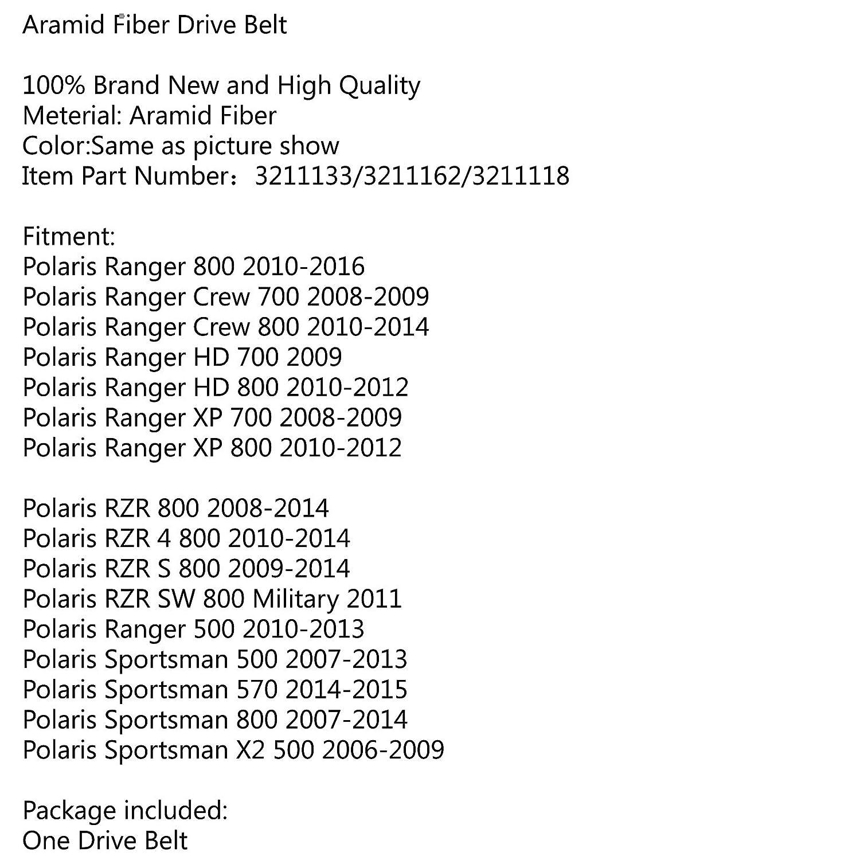 Polaris Ranger 700 800 drive belt 2008-2014 3211118 3211133 3211162