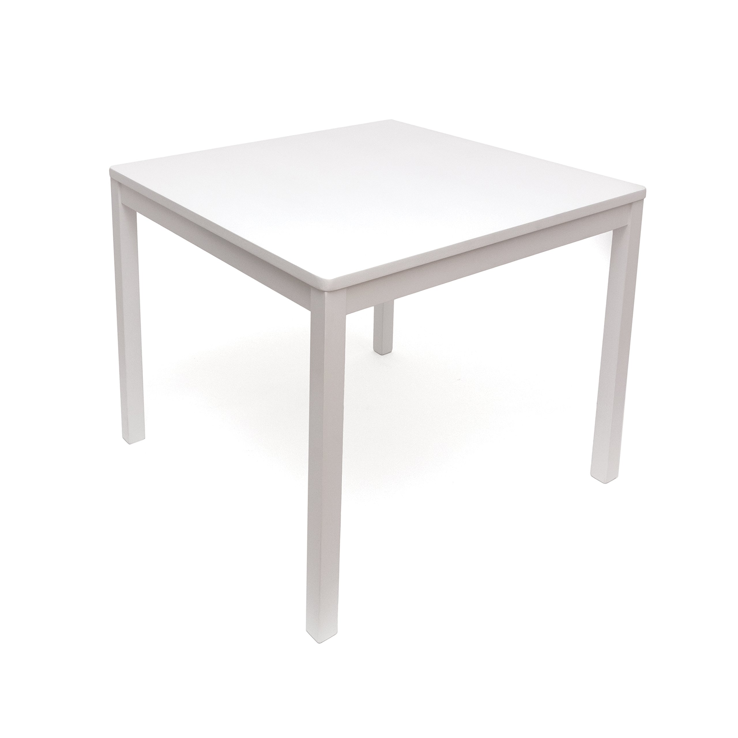 Lipper International 585W Child's Square Table, 23.5'' W x 23.5'' D x 20'' H, White by Lipper International