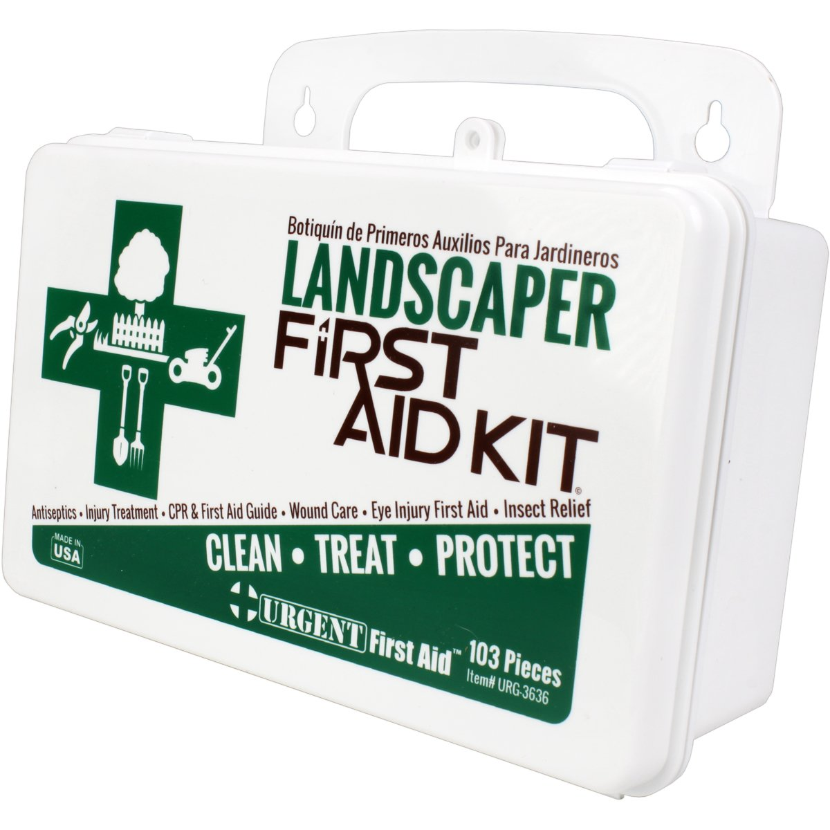 Landscaper & Tree Trimming First Aid Kit, OSHA Compliant, 10 Unit, 103 Piece, Plastic Case with Gasket to keep out moisture and dust - be OSHA Compliant: Special Extra first aid item content, too by Urgent First Aid (Image #8)