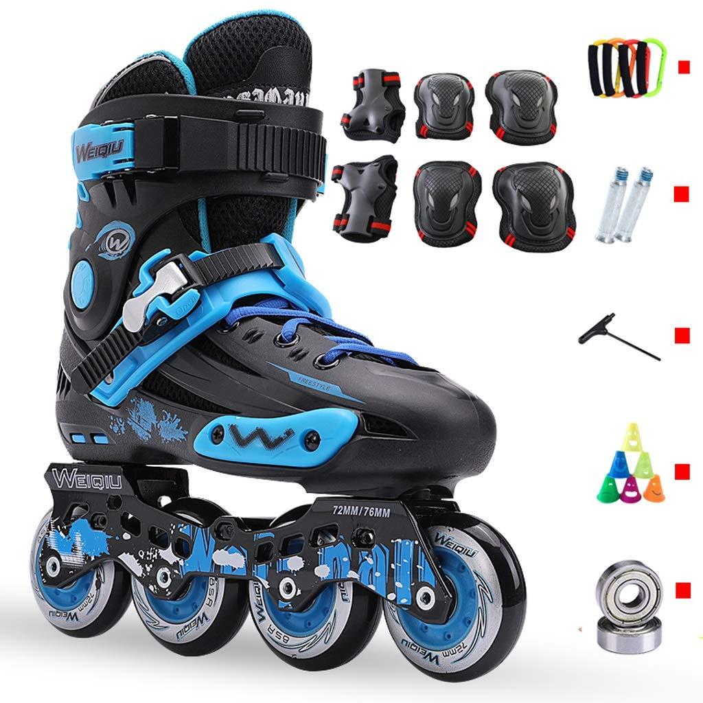 インラインスケート インラインスケート、成人男性および女性初心者のためのプロの平らな靴、大学生のスピードスケート靴、35から44ヤードのオプション (Color : A, Size : EU 41/US 8/UK 7/JP 25.5cm) A EU 41/US 8/UK 7/JP 25.5cm