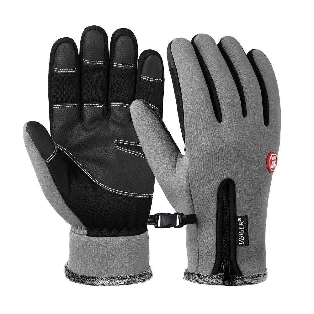 VBIGER Winter Warm Touch Screen Gloves Thick Texting Cold Weather Gloves Windproof Cycling Gloves for Men Women